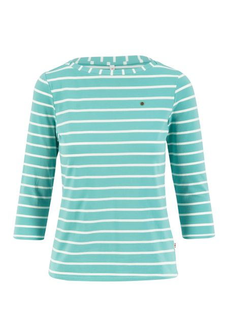 Blutsgeschwister 3/4 sleeve shirt stripe of aqua