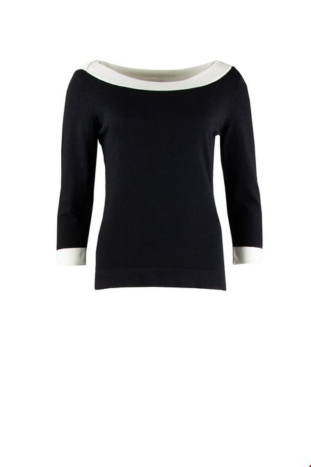 Zilch boatneck sweater twotone