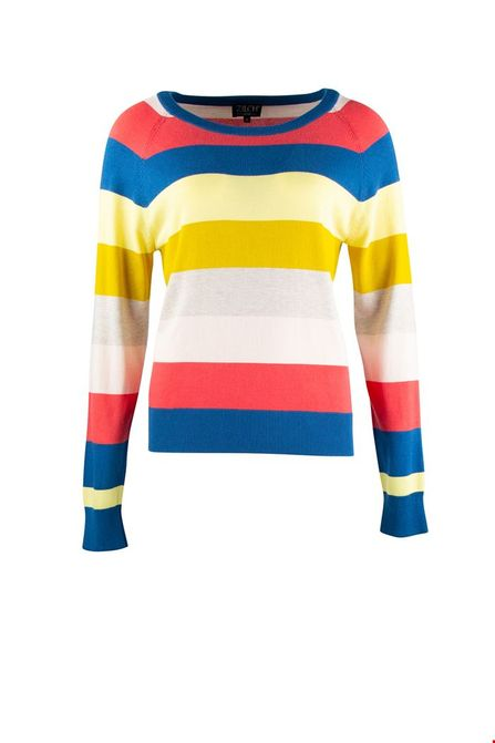 Zilch sweater roundneck multistripe