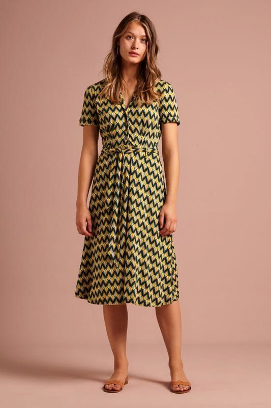 King Louie Sheeva Dress Namaste green