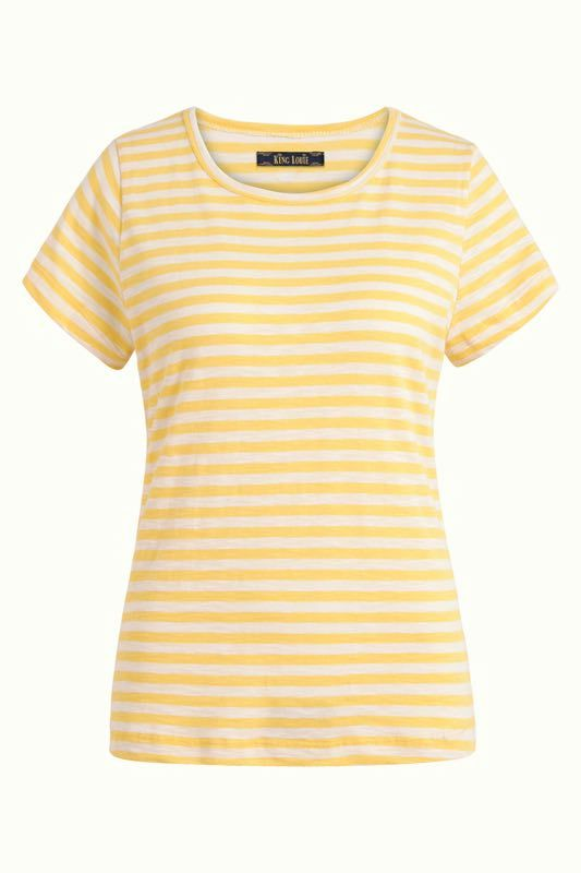 King Louie Cath T-Shirt Stripe Royale gelb weiss