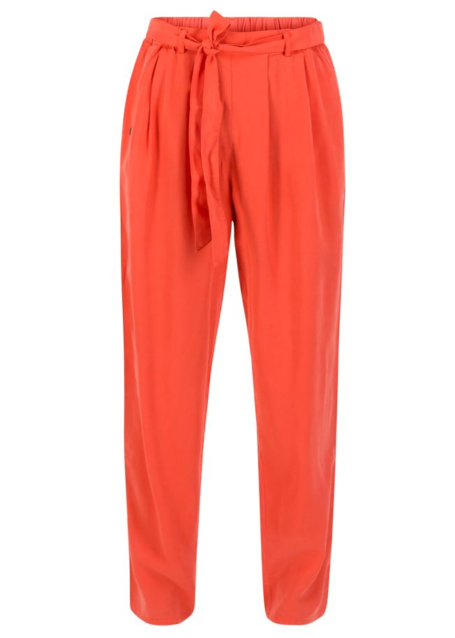 Blutsgeschwister logo woven trousers dusty red