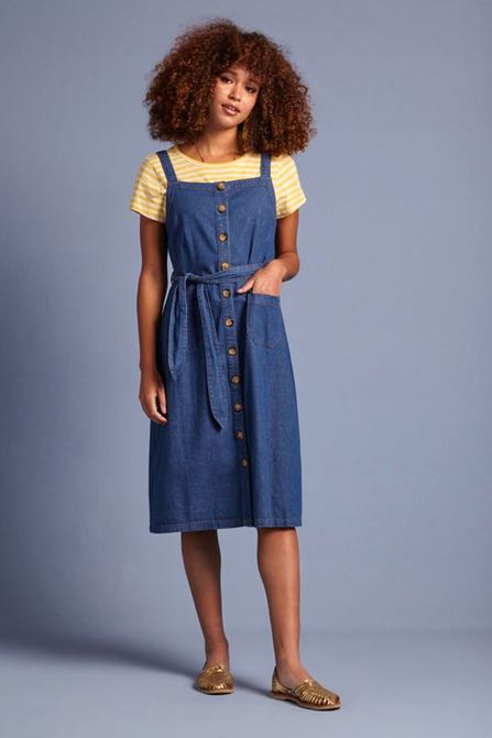 King Louie Beth Pinafore Dress Chambrey