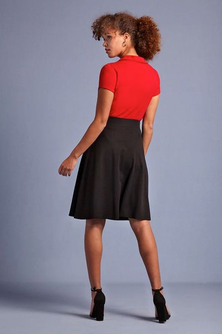 King Louie Sofia Skirt schwarz