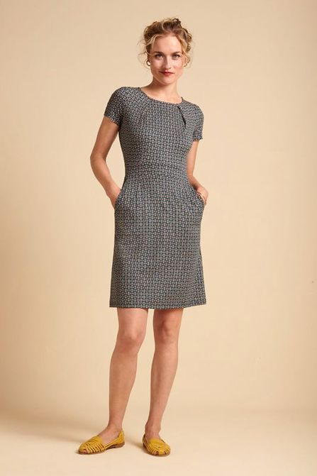 King Louie Mona Dress Bourbon