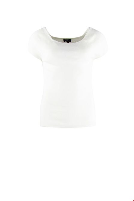 Zilch top short sleeve offwhite